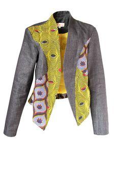 YALERRI VESTE Denim ~Latest African Fashion, African Prints, African fashion styles, African clothing, Nigerian style, Ghanaian fashion, African women dresses, African Bags, African shoes, Nigerian fashion, Ankara, Kitenge, Aso okè, Kenté, brocade. ~DKK