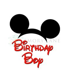 Mickey Mouse Printable Disney Birthday Boy by EmoryLaneStudios, $3.75