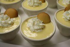 Individual banana pudding