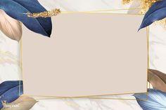 Rectangle foliage frame on white marble background vector | premium image by rawpixel.com / Adj Framed Wallpaper, Flower Background Wallpaper, Gold Background, Flower Backgrounds, Vector Background, Background Patterns, Wallpaper Backgrounds, Textured Background, Invitation Background