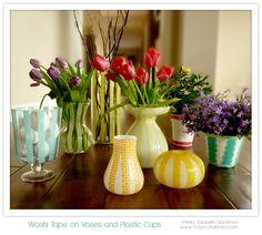 Awesome Washi tape vases