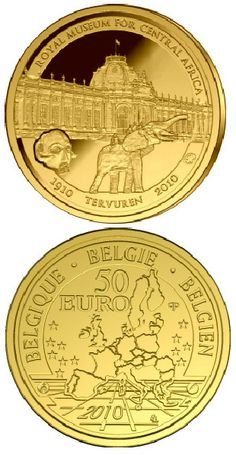Country: Belgium Mintage year: 2010 Face value: 50 euro Diameter: mm Weight: g Alloy: Gold Quality: Proof Mintage: pc proof Piece Euro, African Museum, Valuable Coins, Gold Money, Gold And Silver Coins, Gold Bullion, World Coins, Rare Coins, Coin Collecting