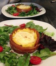 Bacon Wrapped Polenta With Baked Eggs - Inn on Randolph - Napa ...