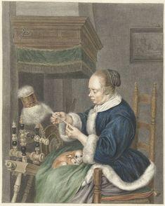 De Spinster, Abraham Delfos, Gerard ter Borch (II), 1741 - 1820