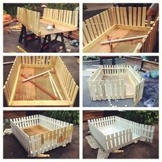 New diy dog kennel outdoor pictures 60 ideas Diy Dog Kennel, Diy Dog Bed, Diy Bed, Diy Guinea Pig Cage, Guinea Pigs, Guinea Pig House, Puppy Pens, Whelping Box, Bunny Cages
