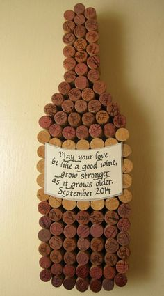 Handmade wine cork wine bottle cork board with hand label, personalized calligraphy quote, cut added for wedding or anniversary Wine Craft, Wine Cork Crafts, Wine Bottle Crafts, Wine Cork Letters, Wine Cork Art, Wine Cork Projects, Wine Bottle Corks, Wine Decor, Letter A Crafts