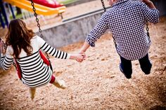 Made me think of having maternity pics at a playground. Someday.