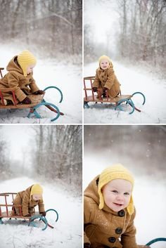 Gorgeous snowy one year photo session! man i miss snow for photography and sleding purposes!