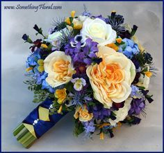 best wedding bouquets roses purple and gold - Google Search