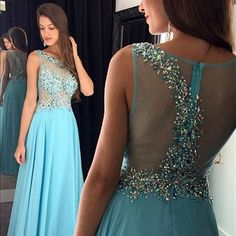Illusion Prom Dresses with Illusion Beads, Sleeveless Tank Prom Dress with Beaded Belt, See-through Prom Dresses