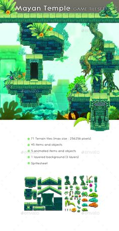 Mayan Temple - Game Tileset - Tilesets Game Assets