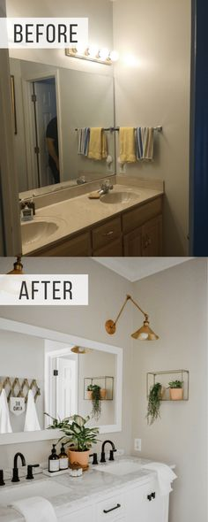 This master bath remodel will show you how you can have an upscale bathroom desi. This master bath remodel will show you how you can have an upscale bathroom design a small Budget. Modern Boho Bathroom, Minimalist Bathroom, Simple Bathroom, Childrens Bathroom, Guest Bathrooms, Master Bathroom, Mosaic Bathroom, Small Master Bath, Lowes Bathroom