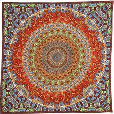Unique Handmade Cotton Grateful Dead Vibrating Bear Mandala Bandana Scarf 22x22