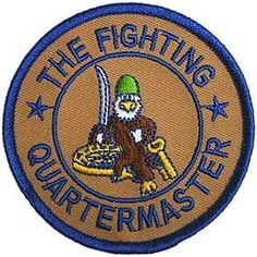 US Army Military Armed Forces Iron On Patch - The Fighting QM Quartermaster Applique