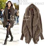 V-Collar Bulky Coat