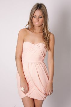 keepsake strapless cocktail believe you dress- esther boutique