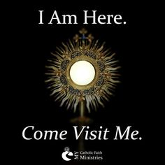 Spend time with Our Lord in the Holy Eucharist and speak your heart to him.you might not see him, but he is there in Spirit ,he hears you when you pray with your heart . Catholic Quotes, Catholic Prayers, Catholic Saints, Religious Quotes, Roman Catholic, Catholic Religion, Catholic Priest, Offertory Prayer, Adoration Catholic