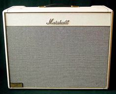 Vintage Rare Wite Tolex Marshall Blues Breaker Amp