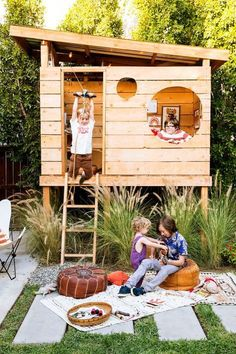 Cutest outdoor playhouse