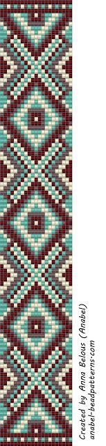 beading scheme weaving beads anabel loom beaded pattern
