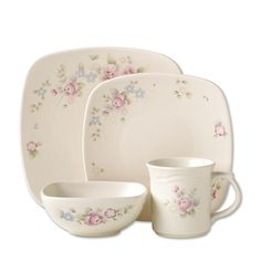 Pfaltzgraff Tea Rose Square Dinnerware Set 64 Pc  sc 1 st  Pinterest & Pfaltzgraff Tea Rose Dinnerware Set 64 pc | Dinnerware Teas and Dishes