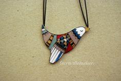 Bird necklace, animal bird jewelry, gift for her, by lacravatteduchien, €20.00
