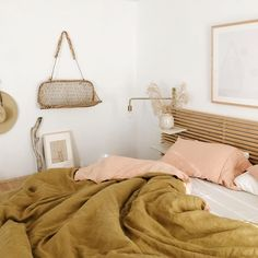 i'll never tire of sleeping on french linen. the tones and textures are always pure magic and their new collection sojurn does… i'll never tire of sleeping on french linen. the tones and textures are always pure magic and their new collection sojurn does… Up House, Cozy House, Home Bedroom, Bedroom Decor, Bedrooms, Home And Deco, Luxury Bedding, Room Inspiration, Living Spaces