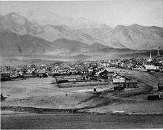 1879 Colorado Springs!  About an hour south of campus.  Amazingly tiny in this photo!