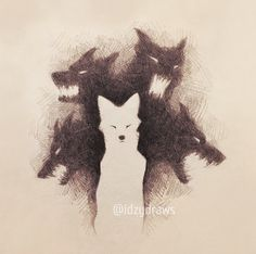 Inner demons scream for sustenance, but it's not… – – Art Sketches Dark Drawings, Animal Drawings, Cool Drawings, Fantasy Kunst, Fantasy Art, Dark Fantasy, Arte Obscura, Arte Horror, Furry Art