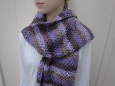 Hand Knit Scarf Long Wide Winter Scarf Wool Acrylic by Girlpower, $46.00