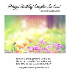Find the best collection of Birthday Wishes for Daughter In Law to make them never forget this day. Share an emotional and sincere Best Quotes Birthday Wishes For Daughter In Law Greetings images would surely make the day special for your loved ones. Inspirational Happy Birthday Quotes, Happy Birthday Quotes For Daughter, Happy Birthday My Love, Birthday Quotes For Him, Quotes Inspirational, Motivational, Special Birthday Wishes, Free Birthday Card, Happy Birthday Wishes Images