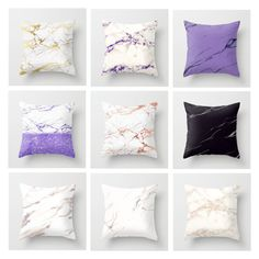 """""""Marble pillows"""" by zpeale ❤ liked on Polyvore featuring interior, interiors, interior design, home, home decor and interior decorating"""