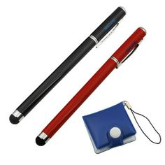 iKross 2pcs Stainless Universal Touch Screen Stylus w/ Pen (Black / Red) for Nokia Lumia 929/ 1520/ 2520/ 1020; Samsung Galaxy Note 3 2; iPhone 5S 5C 5, iPad 1, 2, 3, 4, Mini, Air Tablet with*Memory Card Case* Brand new Stainless Steel iKross Stylus for All Capacitive Touchscreen Device.. Removable cap covers ballpoint pen end when not in use.. Keeps your screen free from scratches and fingerprint... #iKross #Wireless
