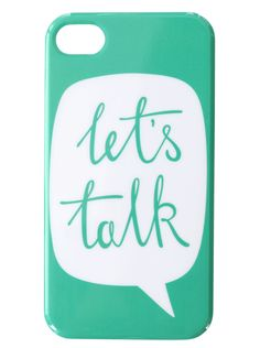 Let's Talk iPhone case from Alphabet Bags! Cool Cases, Cute Phone Cases, Iphone 4, Iphone Cases, Ipod Covers, Phone Interviews, Kindle Case, New Phones, Phone Accessories
