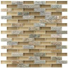 Tessera Subway Suffolk 11-3/4 in. x 11-3/4 in. x 8 mm Glass and Stone Mosaic Tile