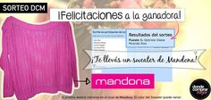 Y la ganadora del sorteo DCM y Mandona Tienda es... www.dondecomprarmejor.com/mandona