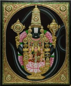 Tanjorepainting with frame inches using poster colours on wooden *panel* embellished with semi *precious* stones by multiple *Talented* artists Please join with your friends. just inbox me for queries contact at whatsapp Mysore Painting, Tanjore Painting, Traditional Paintings, Traditional Art, Emboss Painting, Wonder Art, Lord Balaji, Lord Vishnu Wallpapers, Flower Phone Wallpaper