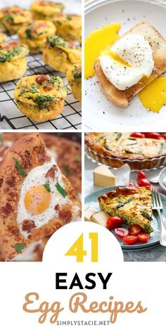 Easy Egg Recipes - In this mouth-watering collection, you will find a variety of easy egg recipes to try on National Egg Day (or any other day for that matter). Clean Eating Breakfast, Nutritious Breakfast, Breakfast For Dinner, Breakfast Recipes, Breakfast Ideas, Easy Egg Recipes, Appetizer Recipes, Egg Benedict, Starbucks Recipes