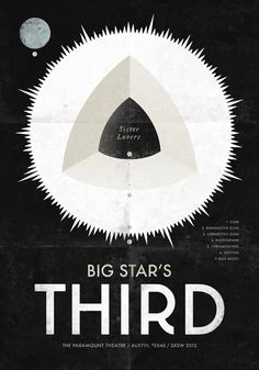 Members of Wilco, REM, Yo La Tengo & more playing Big Star tribute in L. Simon Walker, Logos Retro, Composition Design, Black White Art, Big Star, Visual Communication, Concert Posters, Graphic Design Typography, Creative Design