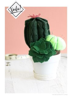 cactus succulent pin cushion tutorial diy felt sewing dupetitdoux succulente épingles pelotte couture artisanat tutoriel step-by-step