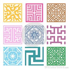 Illustration about Plaid Symbol sets. Korean traditional Pattern is a Pattern Design. Illustration of grid, design, china - 30663654 Textile Pattern Design, Textile Patterns, Geometric Patterns, Korean Crafts, Motifs Textiles, Korean Design, Chinese Patterns, Korean Art, China Art