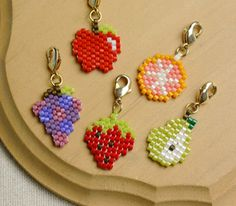 Bead woven fruit charms from parts club jp, I have check back on the site there so many recipes to look at.