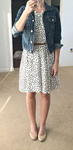 Stitch Fix September 2015 - 41Hawthorn Sugar Dot Print Dress. So cute and flattering!