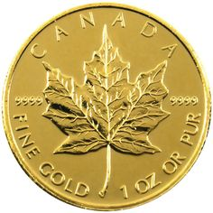 2013 Canadian Gold Maple Leaf 1oz BU