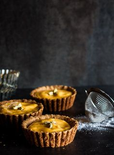 Mango Lassi Tarts with an Almond Crust