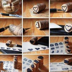 Cork stamp diy recycle