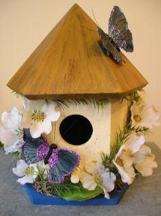 Decorative Birdhouses Handpainted Indoor Decorative