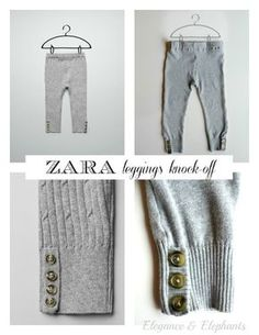 Here's a quick & easy tutorial for a cute pair of leggings, inspired by these  Zara knitted leggings , up-cycled from the sleeves of ...