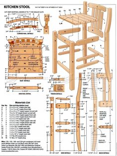 #357 Kitchen Stool Plans - Furniture Plans