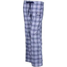 San Diego Chargers Ladies Navy Blue-White Monday Night Football II Plaid Pajama Pants $29.95